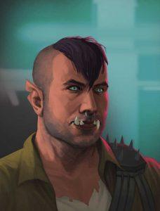Eric Mersman als Ork in Shadowrun Returns